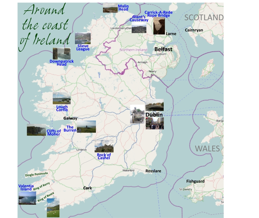 Ireland Points Of Interest Map.Map Of Ireland With Points Of Interest Twitterleesclub